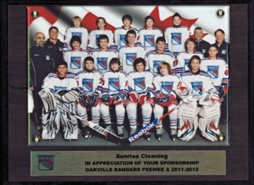 Sponsorship of Oakville Rangers Minor Peewee AA Hockey